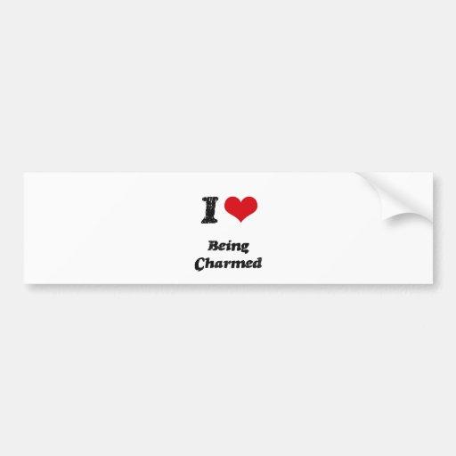 Amo el ser encantado etiqueta de parachoque