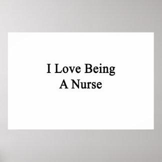 Amo el ser enfermera impresiones