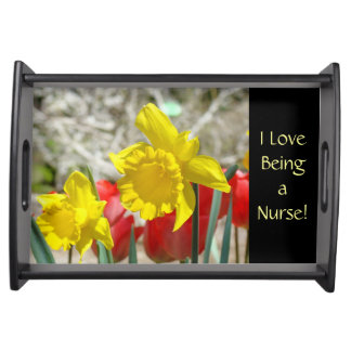 ¡Amo el ser enfermera! regalos que sirven el cuida Bandeja