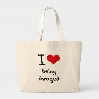 Amo el ser enfurecido bolsa de mano