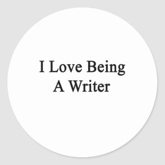 Amo el ser escritor pegatina redonda