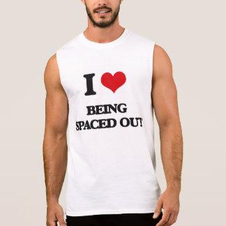 Amo el ser espaciado hacia fuera camiseta sin mangas