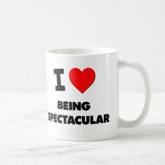 Amo el ser espectacular taza básica blanca