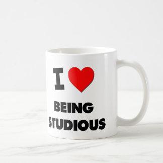Amo el ser estudioso tazas de café