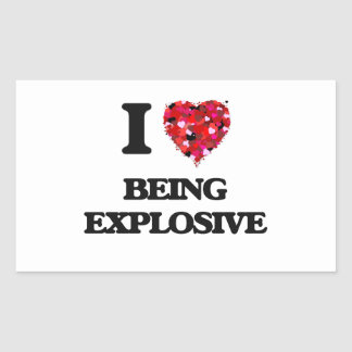 Amo el ser explosivo pegatina rectangular
