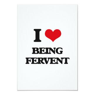 Amo el ser ferviente invitación 8,9 x 12,7 cm