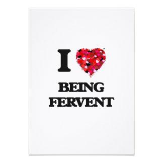 """Amo el ser ferviente invitación 5"""" x 7"""""""