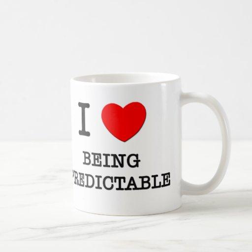 Amo el ser fiable taza básica blanca