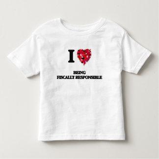 Amo el ser fiscal responsable tee shirts