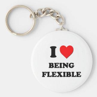 Amo el ser flexible llavero redondo tipo pin