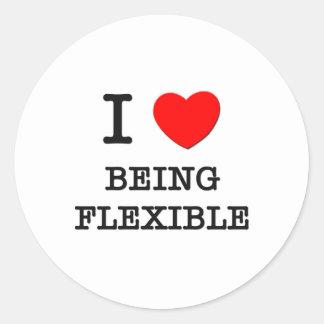 Amo el ser flexible pegatina redonda