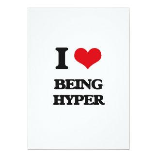 """Amo el ser híper invitación 5"""" x 7"""""""
