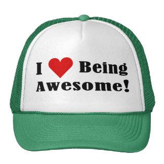 ¡Amo el ser impresionante! Gorras De Camionero