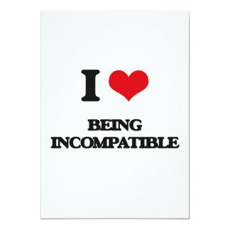 Amo el ser incompatible invitación 12,7 x 17,8 cm