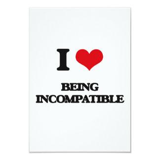 """Amo el ser incompatible invitación 3.5"""" x 5"""""""