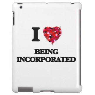 Amo el ser incorporado funda para iPad
