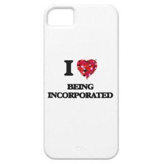 Amo el ser incorporado funda para iPhone 5 barely there