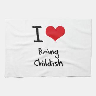 Amo el ser infantil toalla