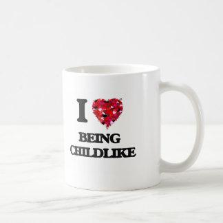 Amo el ser infantil taza