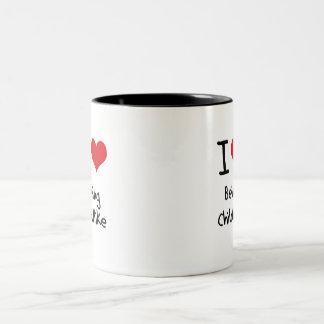 Amo el ser infantil taza de dos tonos