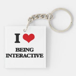 Amo el ser interactivo llaveros