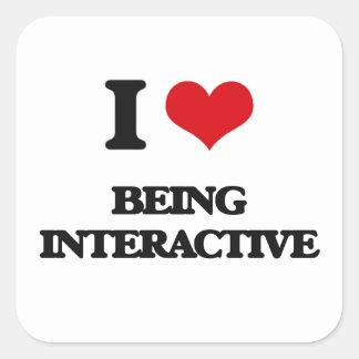 Amo el ser interactivo colcomanias cuadradass