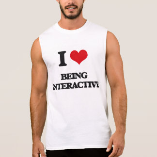 Amo el ser interactivo camiseta sin mangas