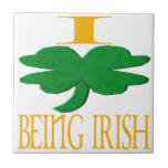 Amo el ser irlandés azulejos