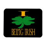 Amo el ser irlandés iman de vinilo