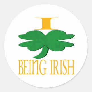 Amo el ser irlandés pegatina redonda