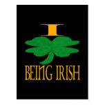 Amo el ser irlandés postales
