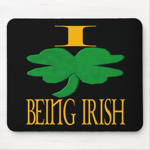 Amo el ser irlandés tapete de ratón
