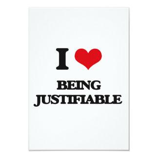 Amo el ser justificable invitación 8,9 x 12,7 cm
