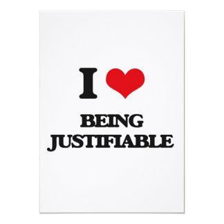 Amo el ser justificable invitación 12,7 x 17,8 cm