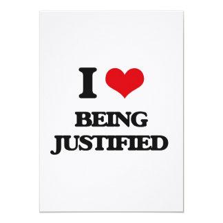 Amo el ser justificado invitación 12,7 x 17,8 cm