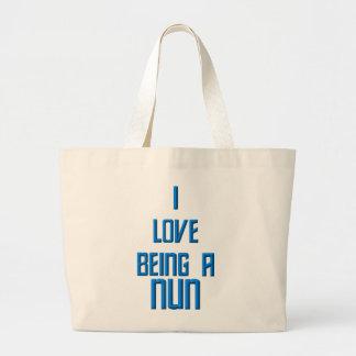 Amo el ser monja bolsa de mano
