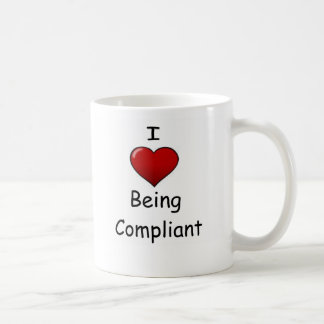 Amo el ser obediente taza