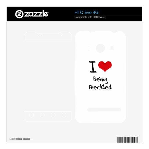 Amo el ser pecoso calcomanía para HTC evo 4G