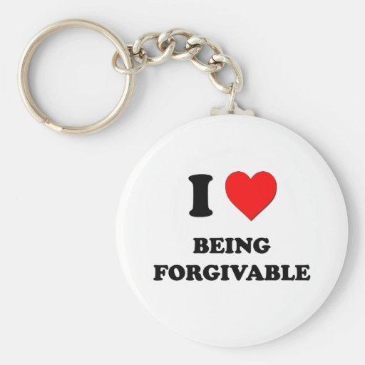 Amo el ser perdonable llaveros personalizados