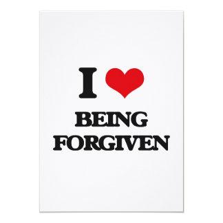 """Amo el ser perdonado invitación 5"""" x 7"""""""