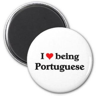 Amo el ser portugués imán redondo 5 cm