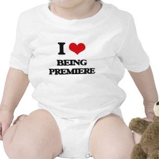 Amo el ser premier trajes de bebé