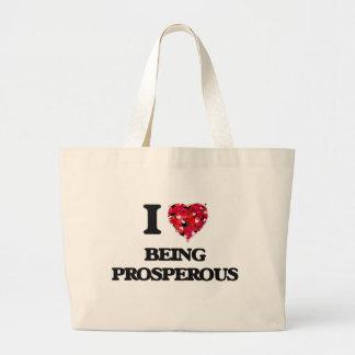 Amo el ser próspero bolsa tela grande