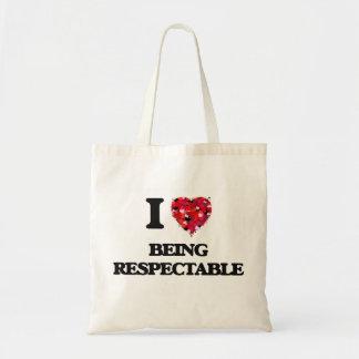 Amo el ser respetable bolsa tela barata