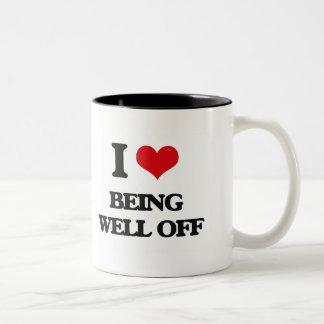 Amo el ser rico tazas de café
