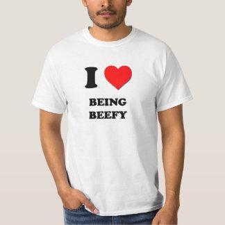 Amo el ser rollizo camisas