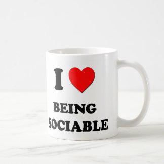 Amo el ser sociable taza