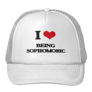 Amo el ser Sophomoric Gorra