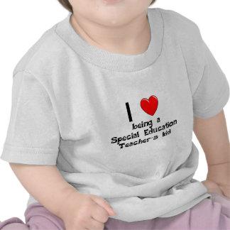 Amo el ser t del niño de un profesor de la educaci camisetas