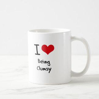 Amo el ser torpe taza básica blanca